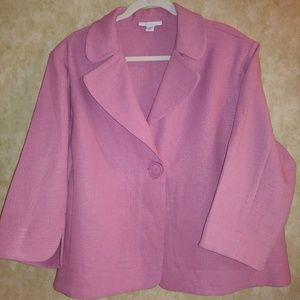 Pretty blush Dressbarn blazer